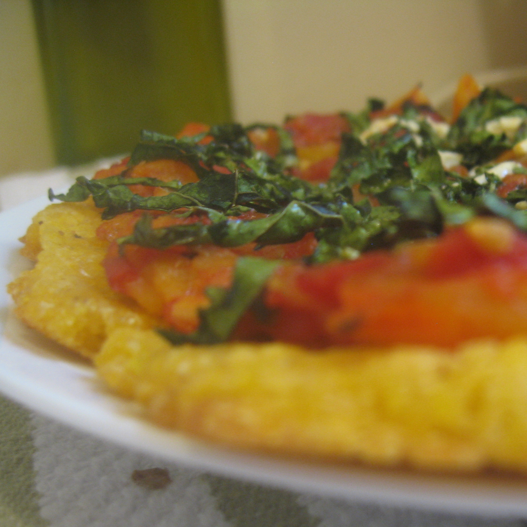 Life Lesson from Pizza} Easier-is-better Cornmeal Pizza Crust with