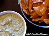{My Secret Love} White Bean Basil Hummus