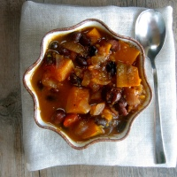 {Flavors of Fall} Black Soybean and Kabocha Squash Stew